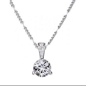 """15ec8deeeaa Swarovski Jewelry - Swarovski Solitaire Crystal Pendant 18"""" Necklace"""